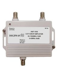 High Quality CATV Super Drop Amplifier with Power Adapter 5-1000MHZ