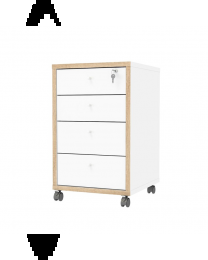 TygerClaw 4 Drawer Mobile Cabinet-TYDS98019149